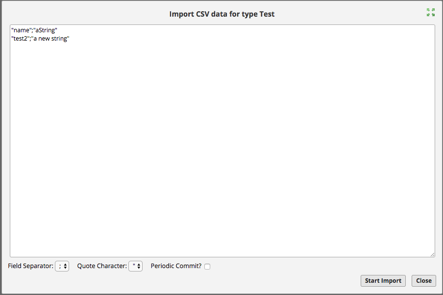 Structr Support - CSV Import/Export